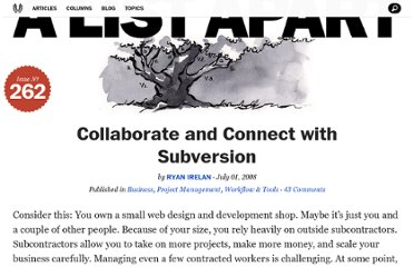 http://alistapart.com/article/collaboratewithsubversion
