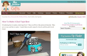 http://www.tipjunkie.com/holiday-crafts/christmas/how-to-make-a-duct-tape-bow/