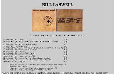 http://www.silent-watcher.net/billlaswell/discography/laswell/excavation.html