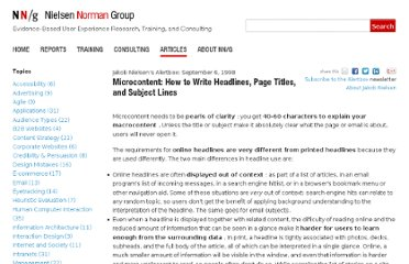 http://www.nngroup.com/articles/microcontent-how-to-write-headlines-page-titles-and-subject-lines/