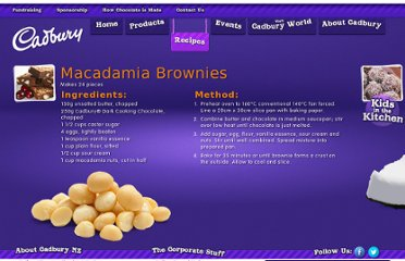 http://www.cadbury.co.nz/recipes.aspx