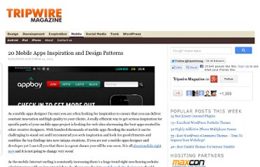 http://www.tripwiremagazine.com/2012/10/mobile-apps-inspiration-design-patterns.html