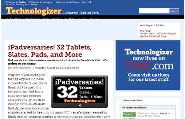 http://technologizer.com/2010/08/12/ipad-alternatives/