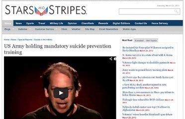 http://www.stripes.com/news/special-reports/suicide-in-the-military/us-army-holding-mandatory-suicide-prevention-training-1.190030
