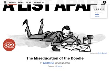 http://alistapart.com/article/the-miseducation-of-the-doodle