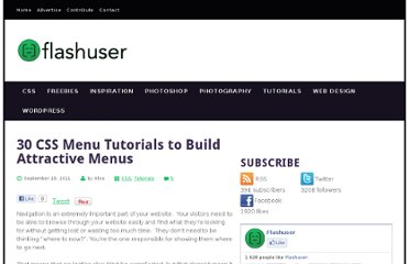 http://www.flashuser.net/30-css-menu-tutorials-to-build-attractive-menus