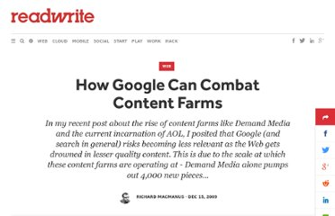http://readwrite.com/2009/12/14/how_google_can_combat_content_farms