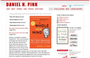 http://www.danpink.com/books/whole-new-mind