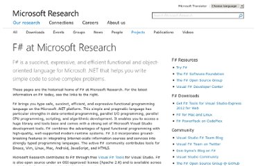 http://research.microsoft.com/en-us/projects/fsharp/default.aspx