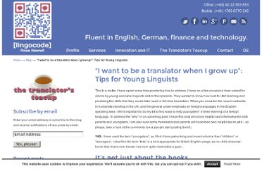 http://lingocode.com/i-want-to-be-a-translator-when-i-grow-up-tips-for-young-linguists/