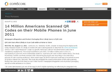 http://www.comscore.com/Insights/Press_Releases/2011/8/14_Million_Americans_Scanned_QR_or_Bar_Codes_on_their_Mobile_Phones_in_June_2011