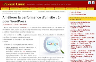 http://www.penseelibre.fr/performance-site-2-wordpress