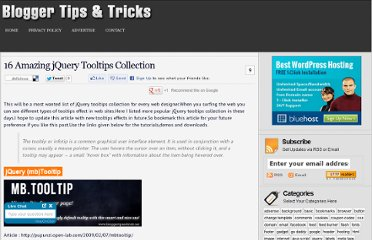 http://www.bloggertipandtrick.net/16-amazing-jquery-tooltips-collection/