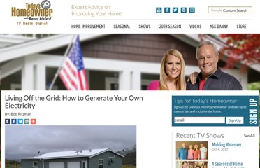 http://www.todayshomeowner.com/living-off-the-grid-generating-your-own-electricity/