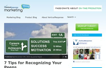 http://www.verticalresponse.com/blog/7-tips-for-recognizing-your-peeps/