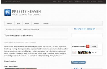 http://www.presetsheaven.com/presets/let-the-sunshine-get-cold/