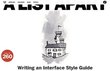 http://alistapart.com/article/writingainterfacestyleguide
