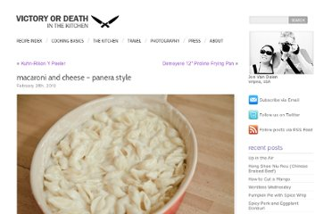 http://www.vodkitchen.com/making-panera-signature-macaroni-and-cheese/