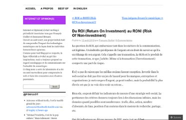 http://internetetopinion.wordpress.com/2010/08/12/du-roi-return-on-investment-au-roni-risk-of-non-investment/