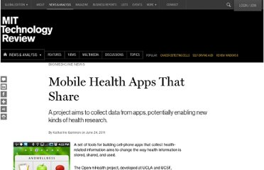 http://www.technologyreview.com/news/424469/mobile-health-apps-that-share/