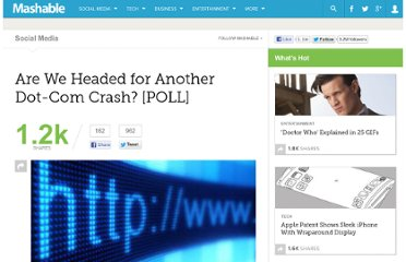 http://mashable.com/2011/01/13/are-we-headed-for-another-dot-com-crash-poll/