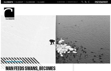 http://www.fastcocreate.com/1682382/man-feeds-swans-becomes-part-of-an-image-of-jaw-dropping-surreal-beauty