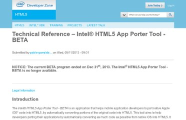 http://software.intel.com/en-us/articles/technical-reference-intel-html5-app-porter-tool-beta