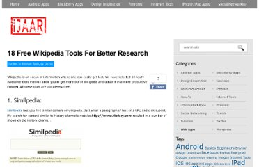 http://ijaar.com/5-tools-to-get-more-out-of-wikipedia/