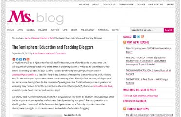 http://msmagazine.com/blog/2012/09/26/the-femisphere-education-and-teaching-bloggers/