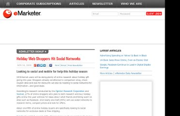 http://www.emarketer.com/Article/Holiday-Web-Shoppers-Hit-Social-Networks/1007378