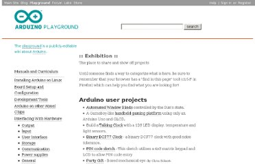 http://playground.arduino.cc/Projects/ArduinoUsers