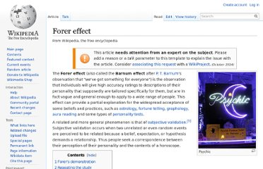 https://en.wikipedia.org/wiki/Forer_effect