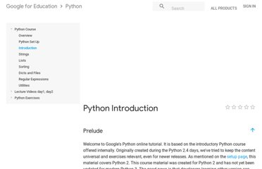 https://developers.google.com/edu/python/introduction