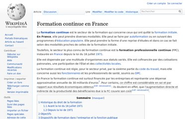 http://fr.wikipedia.org/wiki/Formation_continue_en_France