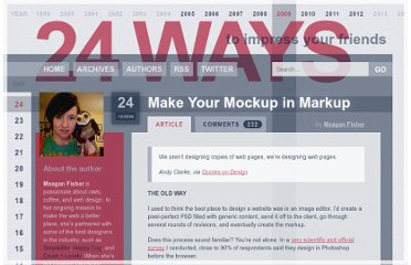 http://24ways.org/2009/make-your-mockup-in-markup/