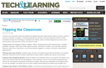 http://www.techlearning.com/features/0039/flipping-the-classroom/52462