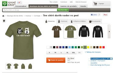 http://www.spreadshirt.fr/khaki-gruen-darth-vader-vs-pod-t-shirts-C4408A8354329