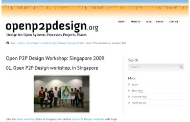 http://www.openp2pdesign.org/projects/report-business-models-for-open-hardware-fab-labs-diy-craft/open-p2p-design-workshop-singapore-2009/