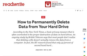 http://readwrite.com/2008/11/16/how_to_permanently_delete_data