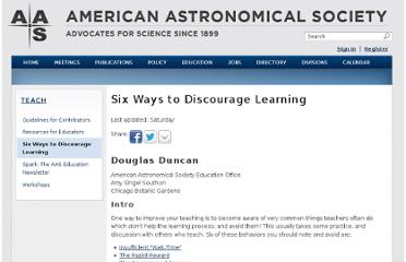 http://aas.org/education/Six_Ways_to_Discourage_Learning