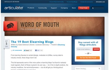 http://www.articulate.com/blog/the-19-best-elearning-blogs/