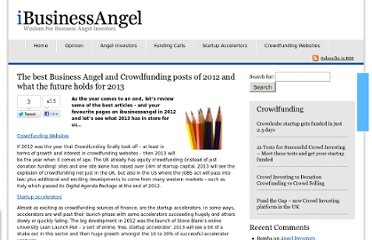 http://www.ibusinessangel.com/2012/12/the-best-business-angel-and-crowdfunding-posts-of-2012-and-what-the-future-holds-for-2013/
