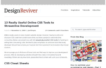 http://designreviver.com/tips/13-really-useful-online-css-tools-to-streamline-development/