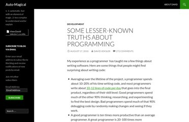 http://automagical.rationalmind.net/2010/08/17/some-lesser-known-truths-about-programming/