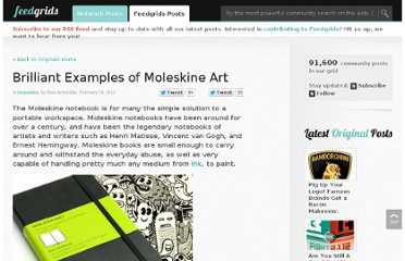 http://feedgrids.com/originals/post/brilliant_examples_of_moleskine_art/