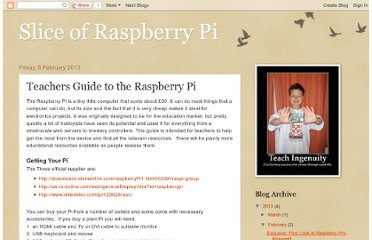 http://raspberrypislice.blogspot.com/2013/02/teachers-guide-to-raspberry-pi.html