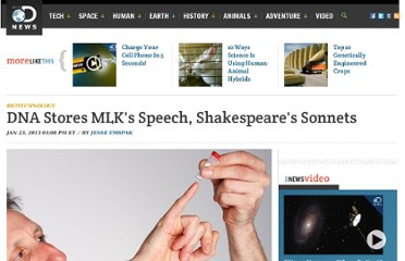 http://news.discovery.com/tech/biotechnology/dna-stores-mlk-speech-shakespeare-1301231.htm