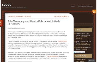 http://dedwards.me/2012/05/14/solo-taxonomy-and-mentormob-a-match-made-in-heaven/