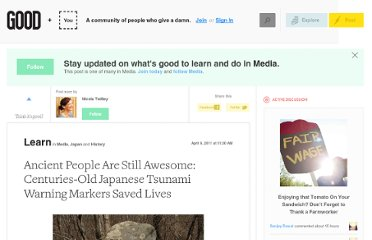 http://www.good.is/posts/ancient-people-are-still-awesome-centuries-old-japanese-tsunami-warning-markers-saved-lives