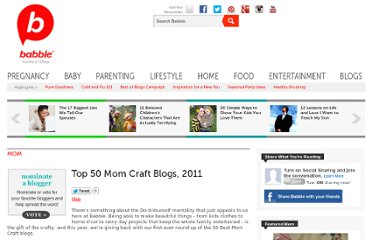http://www.babble.com/mom/top-50-mom-craft-blogs-2011-3/